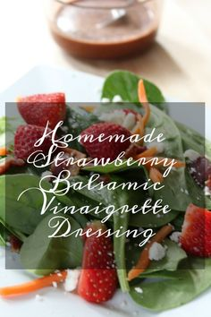 Homemade Strawberry Balsamic Vinaigrette Dressing Making your salad dressing is not only easy, but cost-effective! This homemade strawberry balsamic vinaigrette dressing is the perfect addition to salads. Balsamic Dressing, Vinaigrette Dressing, Salad Dressing Recipes, Salad Dressings, Salad Recipes, Balsamic Glaze Recipes, Balsamic Chicken Recipes, Strawberry Vinaigrette, Strawberry Balsamic
