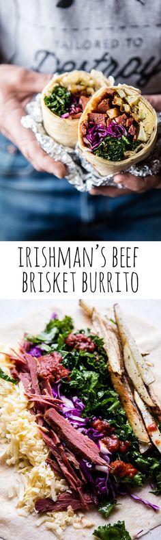 Irishman's Beef Brisket Burrito   halfbakedharvest.com @hbharvest