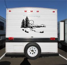 Mountains Buck Deer Hunting RV Camper Motorhome Decal Sticker - Custom rv vinyl decals