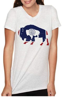Surf Wyoming - Women's Flag Bison Crew Neck, $28.00 (http://www.surfwyoming.com/womens-flag-bison-crew-neck/)