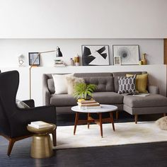 Evening festivities include: this couch and a glass of wine. #mywestelm