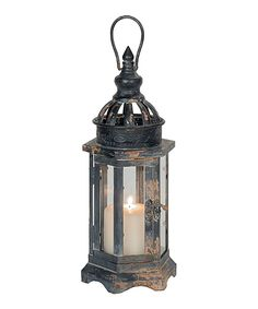 This Black Hexagon Lantern Candleholder by Designs Combined Inc. is perfect! #zulilyfinds