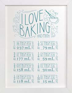I Love Baking And Math by Dana Beckwith at minted.com