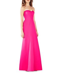 Bcbgmaxazria Strapless Gown - 100% Bloomingdale's Exclusive  | Polyester; lining: polyester | Hand wash | Imported | Sweetheart neckline, strapless, darted bust | Concealed zip back closure, lined | P