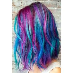 42 Fabulous Purple and Blue Hair Styles | LoveHairStyles.com ❤ liked on Polyvore featuring beauty products, haircare, hair styling tools and hair