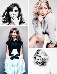 Billie Piper and Jenna Coleman in Glamour UK. Beautiful girls❤️