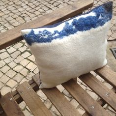 hand felted pillow