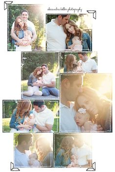 newborn family outdoors session | Los Angeles Newborn Photography