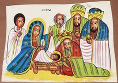 The birth of Jesus  (Ethiopian painting)