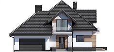 Elewacja frontowa projektu Opałek III N Village House Design, Village Houses, House Plans Uk, Home Fashion, Colonial, My House, Mansions, House Styles, Aircraft