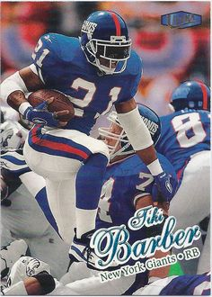 Tiki Barber New York Giants 1998 Fleer Ultra Card #16