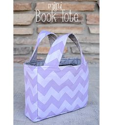 Tutorial: Mini book tote or scripture case