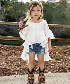 High Low Boho Blouse for Girls | Trendy kids clothes for your little bohemian babe! Shop the look at www.lolaandtheboys.com