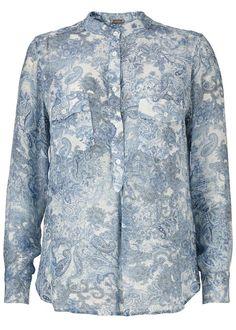 Gustav Skjorte Print 26659 Shirt - indigo blue