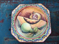 Southwestern Decorating, Hacienda Style, Spanish Style, Plates On Wall, Leather Craft, Mexican, Wall Decor, Scene, Pottery