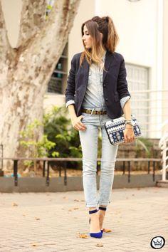Look du jour: Denim    por Flávia Linden | Fashion coolture       - http://modatrade.com.br/look-du-jour-denim