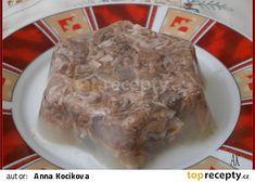 Sulc z vepřových nožiček recept - TopRecepty.cz Czech Recipes, Pork, Meat, Kale Stir Fry, Beef, Pork Chops