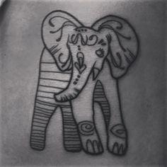 Tattoo elephant tattoo