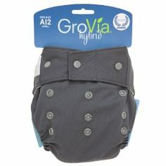 Amazon.com: GroVia Hybrid Snap Shell Diaper, Cloud, One Size: Baby