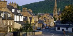 The main street through Ballater, a village on the River Dee