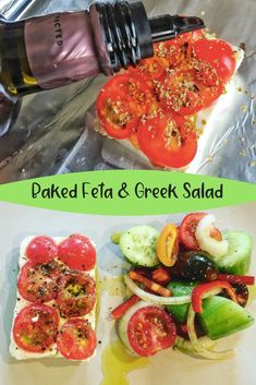 Baked Feta and Greek Style Salad