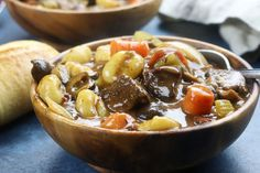 Italian Beef Stew recipe has melt in your mouth tender beef, a rich sauce with the tastes of Italy, tender gnocchi and hearty veggies.