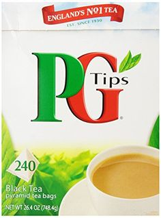 PG Tips Black Tea, Pyramid Tea Bags, 240-Count Boxes Pack of 2 - http://teacoffeestore.com/pg-tips-black-tea-pyramid-tea-bags-240-count-boxes-pack-of-2/