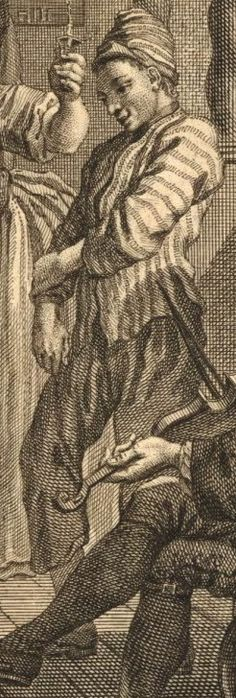 Another sailor detail from The Wapping Landlady 1743