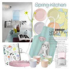 """SPRING KITCHEN"" by tiziana-melera ❤ liked on Polyvore featuring interior, interiors, interior design, home, home decor, interior decorating, Serena & Lily, Kate Spade, Royal Doulton and LSA International"