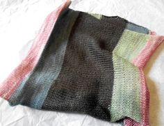 knitted cowl woolalpaca handdyed yarn by oceanwindknits on Etsy, $20.00
