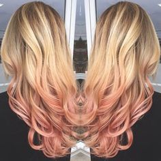 rose gold ombre hair - Google Search