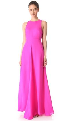 I could see you in this dress hanging out in Bermuda with a straw hat and great flat sandals! Jenni Kayne Racer Back Gown