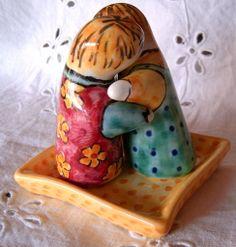 Omini Sale/Pepe in maiolica dipinti a mano., by ilciliegio, 10,00 € su misshobby.com