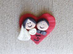 Casal íma, lembrancinha de casamento - biscuit http://atelieartenaveia.divitae.com.br/