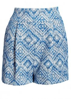 Ikat Linen Shorts - Trousers & Skirts - Matthew Williamson