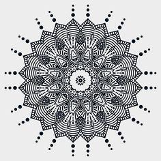 Mandala Design, Mandala Art, Behance, Ornaments, Black And White, Creative, Black N White, Black White, Christmas Decorations