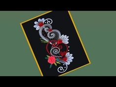 How to make Beautiful Quilling Flower Design Greeting Card Quilling Videos, Quilling Cards, Paper Quilling, Illustration Art Drawing, Art Drawings Sketches, Deco New York, Quilling Flower Designs, Quilled Creations, Origami