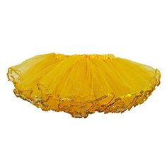 Gold Sparkling Girls 4 Layer Tulle Tutu wSpotlight Sequin Trim XLarge * Check out this great product.