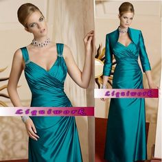 Custom Jade Green Formal Mother of The Bride Evening Gown Dress Clothing SKU-1040078