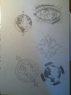 sketching globe tattoo ideas by ~simsons on deviantART