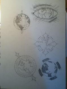 sketching globe tattoo ideas by ~simsons on deviantART
