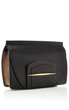 Leather and Suede Clutch by Nina Ricci