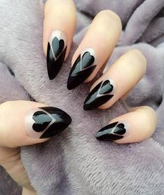 This Black Heart nail ideas may be impress your partner with some cute nail art event. This manicure is so easy to do and looks nice & awesome! We've found 50 gorgeous nail design ideas for you to must try in 2018. These designs are going to make you even more excited for the festival. See more for trendy nail design.