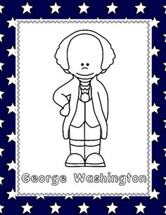 George Washington (NO PREP) pages for PreK-1st Grade from 1 2 3 Creations by L Ackert on TeachersNotebook.com - (6 pages) - No need to laminate, prep or use any color ink...just PRINT and GO!