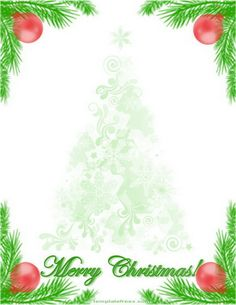 with christmas tree branch decoration more writing paper christmas ...