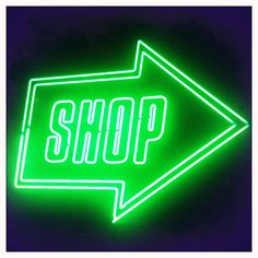 Really cool Neon Shop Sign at the exit of the V Postmodernism Exhibition