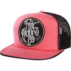 8e5de1bff07 Fox Racing Hooky Trucker Girls Cap - Pink Fox Brand