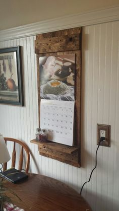 I've been looking for one of these!! Pallet wood calendar holder $15