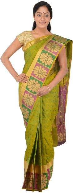 POTHYS Women's Silk Saree (PVP149, Green): Amazon : Clothing & Accessories  http://www.amazon.in/gp/product/B015ZTFD5M/ref=as_li_tl?ie=UTF8&camp=3626&creative=24822&creativeASIN=B015ZTFD5M&linkCode=as2&tag=onlishopind05-21  #Pothys #Silk #Sarees