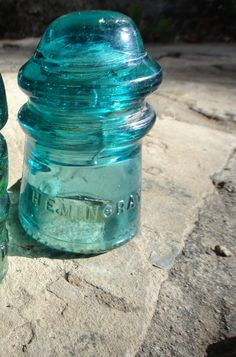 Aqua Tourquoise Hemingray 9 Insulator.